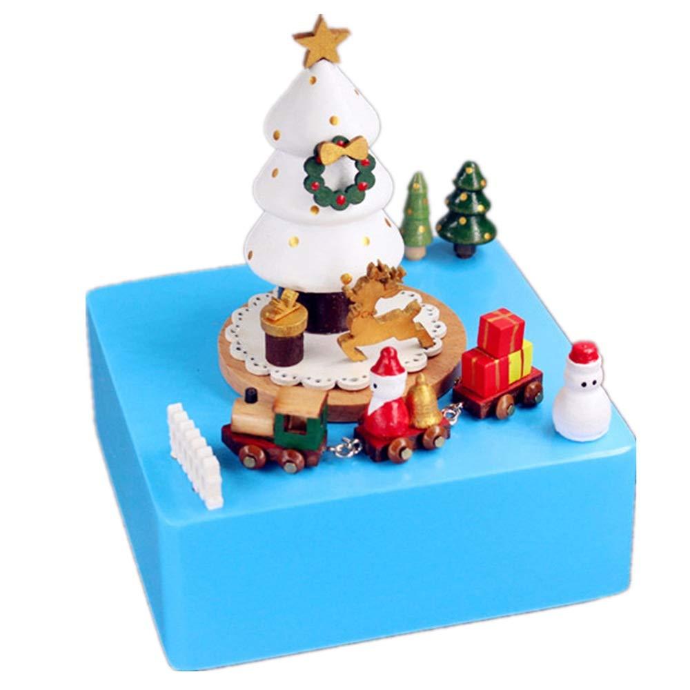 Ouqian-Home Caja Musical Árbol de Navidad Caja de música Artesanías de Madera Decoración Regalos for Mujer Regalo para cumpleaños de Navidad (Color : Picture Color, tamaño : 11X11X15CM): Amazon.es: Hogar