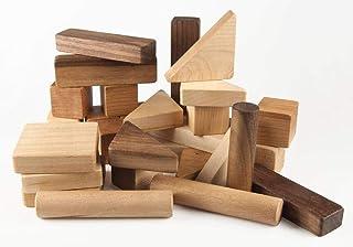 Wood Building Blocks Set - 30 piece