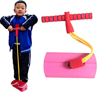 AMERTEER Jumping Toys Foam Pogo Jumper for Kids Fun and Safe Childs Pogo Stick for Toddlers Durable Indoor Outdoor Foam Bu...