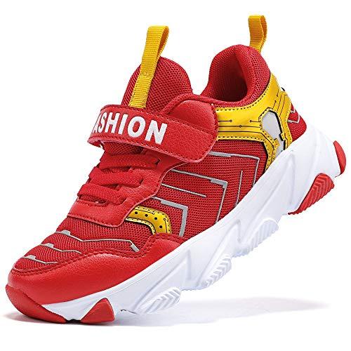 ASHION Kinder Turnschuhe Jungen Sneaker Babys Hausschuhe Mädchen Sportschuhe Kinderschuhe Laufschuhe Unisex-Kinder (J Gold,27 EU)