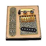 YepYes Pastillas Guitarra Conjunto, La Guitarra Telecaster con 6 Pastillas Puente De La Secuencia De Una Silla Placa para Telecaster Guitarra Eléctrica