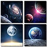 Office Wall Art Decor Wall Art for Bedroom Outer Space Planet Galaxy Wall...