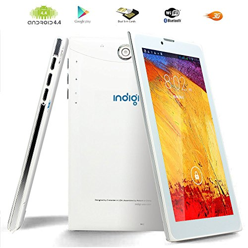 Indigi UltraSlim 7' Phablet 3G Smart Cellphone Tablet PC 8GB Google Play Store GPS WiFi