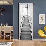 XXXCH 3D Türaufkleber Moderne Treppe 77X200CM Türtapete
