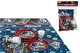 ALMACENESADAN 2270; Pack Fiesta o cumpleaños Disney Star Wars, 6 Invitados; 6 Platos 20 cm, 6 Vasos 200 ml, 12 servilletas y Mantel de plástico 120x180 cm
