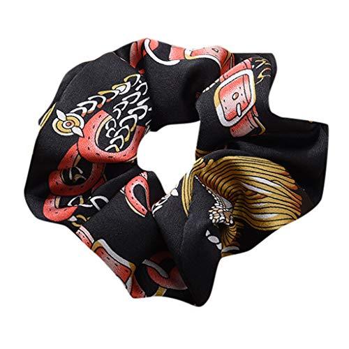 Dorical Erwachsene Haarband Zubehör für Frauen Mädchen Elegante Elastische Haarbänder Vintage Schachtelhalm Halter Seil Haarschmuck Ausverkauf(Schwarz)