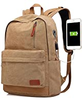 Canvas Laptop Backpack, Waterp...