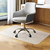 YINN Floor Protection Mat Office Chair Mat,1.5mm Thick PVC Frosted Carpet Protector,Chair Wheels