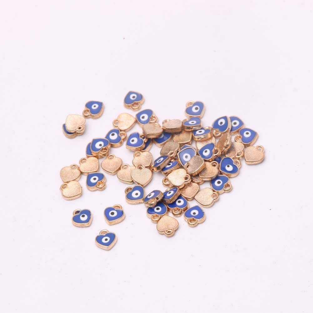 Enamel Love Heart Charm Pendant Beads Accessories Fashion Jewelry Making 1094H