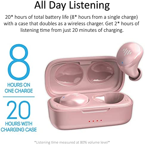iLuv TB100, Rose Gold, Wireless Earbuds