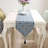 Qinqin666 Tischläufer Sinn für Mode der luxuriösen minimalistischen Stil Tisch Läufer Tischfahne Fahne Dunkelblaues 32x160cm