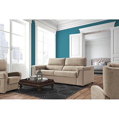 SHIITO - Sofá Cama con Sistema de Apertura Italiano tapizado en Color Beige