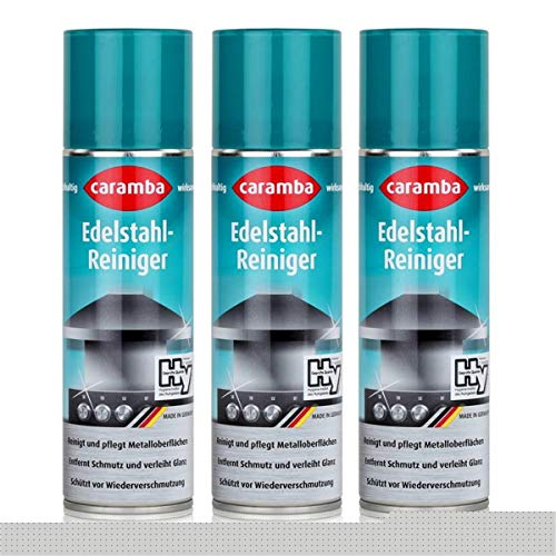 Caramba Edelstahl-Reiniger Spray 250ml - Reinigt & pflegt - 633002 (3er Pack)