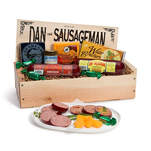 Dan the Sausageman's Gourmet Silver Star Gift Basket -Featuring Seabear Salmon, Smoked Summer Sausages and Sweet Hot Mustard