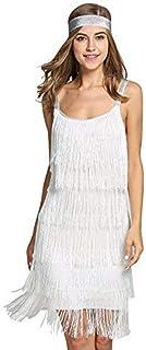 Vestido de Traje de Gatsby Vestido Flecos Ropa Fiesta Mujer Vestidos a?os 20