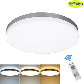 LE 24W Waterproof 13 Inch Ceiling Light 100W Incandescent Bulb Replacement Non-dimmable Flush Mount 2400lm Bedroom Corridor Dining Room 3000K Warm White 120/° Beam Angle Hallway