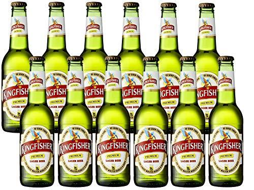 Kingfisher Premium Lager Beer (12 x 330ml) Indisches Flaschenbier