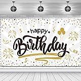 Happy Birthday Hintergrund Banner Extra Große Rose und