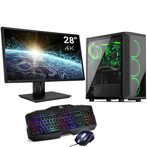 Sedatech Pack PC Pro Gaming Watercooling Intel i9-10850K 10x 3.60Ghz, Radeon RX 6800 16Gb, 32 GB RAM DDR4, 500Gb SSD NVMe M.2 PCIe, 3Tb HDD, USB 3.1, WiFi, Monitor 28' 4K, t/r, Win 10