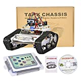 KOOKYE Robot Car Chassis + Robot Car Electronics Parts Kit Tank Platform Metal Stainless Steel 2DW Motor 9V for Arduino