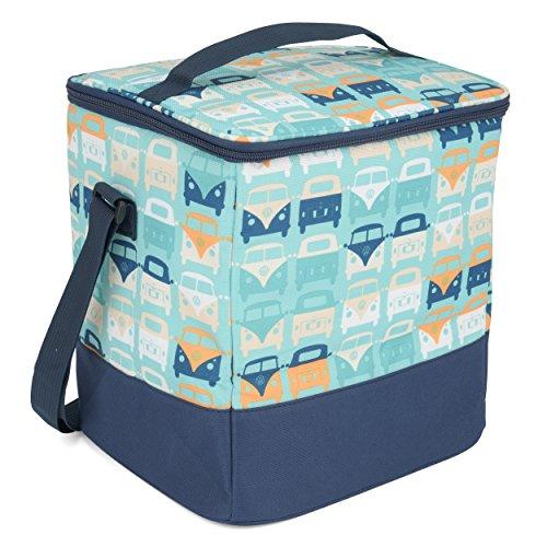 Volkswagen Strand-Kühltasche für die ganze Familie – VW Bulli T1 Samba Bus – für Lunchpakete und Picknicks – 25Liter