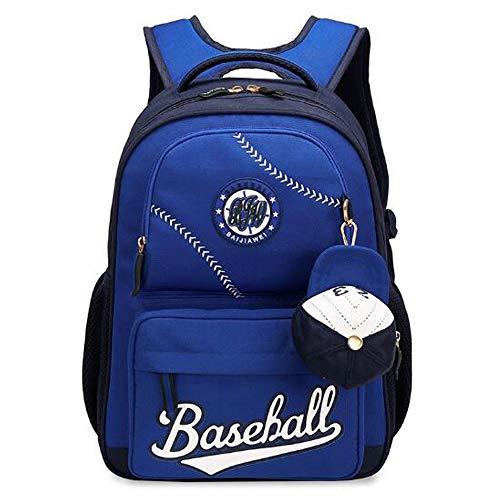 M-Y-S Verwenden Sie Eine US-amerikanische Baseball-Cap Grundschule Schüler, Um 3-6 Ebenen Zu Reduzieren (Farbe : Blau)