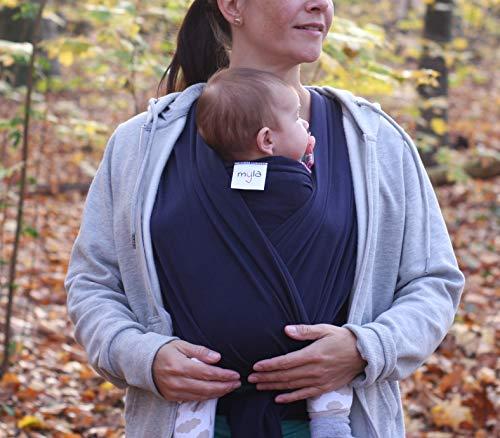 myla Babytragetuch – Elastisches Tragetuch für das erste Lebensjahr - 4