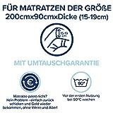 Rundum wasserdichter Matratzenschoner 90x200(Matratzendicke 15-19 cm)Atmungsaktive undurchlässige Matratzenauflage-Schützt auch die Seiten - Premium Molton Matratzenschutz ohne Knittergeräusche - 2