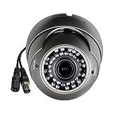 Sinis HD-SDI 1080P CCTV Camera,2.8-12mm Varifocal Lens,36 IR LEDs,Day Night Vision Outdoor/Indoor IP66 Waterproof, Video Surveillance Security System-only 1080P HD SDI Output, Grey, Mental housing