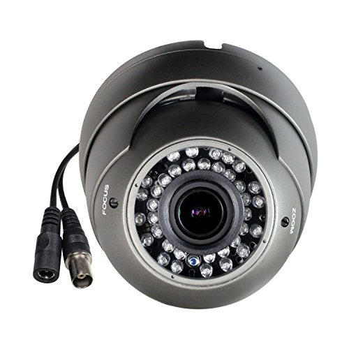 Cámara CCTV híbrida SKYVIEW HD 1080P, 2MP TVI/CVI/AHD/CVBS 4 en 1, lente varifocal de 2.8-12 mm, 36 IR LED, IR Cut, interior / exterior Cámara de seguridad de vigilancia - Salida TVI predeterminada