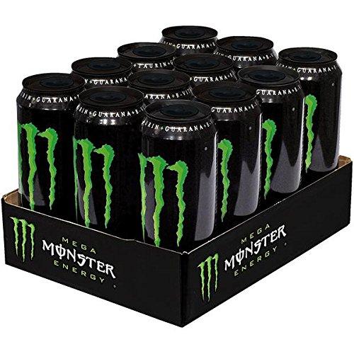 6 Dosen a 553ml Mega Monster Energy Drink inkl. 1.50€ EINWEG Pfand grün