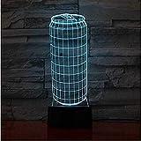 7 Cambio de color Lámpara de mesa LED Gradiente USB Luces nocturnas Latas de leche 3D Modelado táctil Regalos para niños Dormitorio Decoración de iluminación nocturna