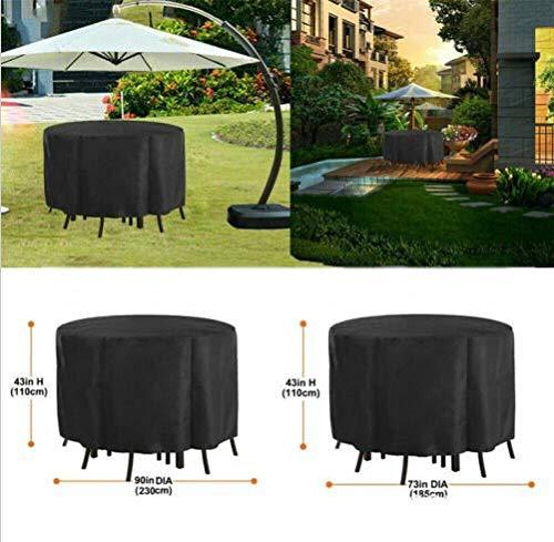 NINGWXQ Seat Cover Ronde Waterproof Oxford doek winddicht ademend koord ontwerp Volledige bescherming Outdoor Deck Chair Cover, diverse maten, 2 kleuren (Color : Silver, Size : 220x90cm)