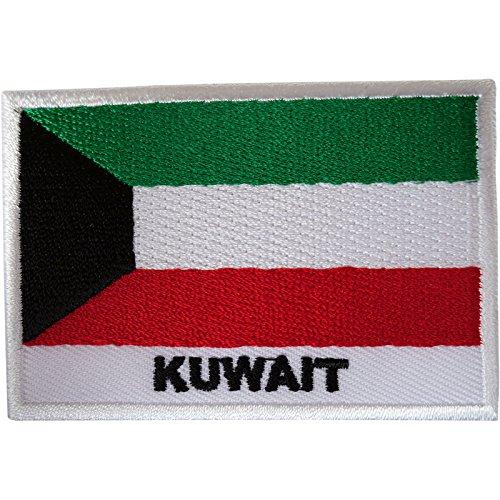Kuwait Flagge Patch Eisen auf Sew auf Kuwait gesticktes Badge Stickerei Applikation