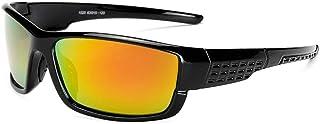 Songlin@yuan Polarized Sunglasses Windshield Sunglasses Men's Outdoor Riding Glasses Men's UV400 PC Men's Sunglasses (Color : Orange)