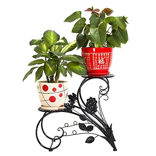 Lewondr Supports de Pot Chocolat Porte-Pots de Fleur en Fer Forg/é 3 Pi/èces D/écor pour Int/érieur Ext/érieur Jardin Maison Balcon Support pour Plante en M/étal R/ésistant /à la Rouille
