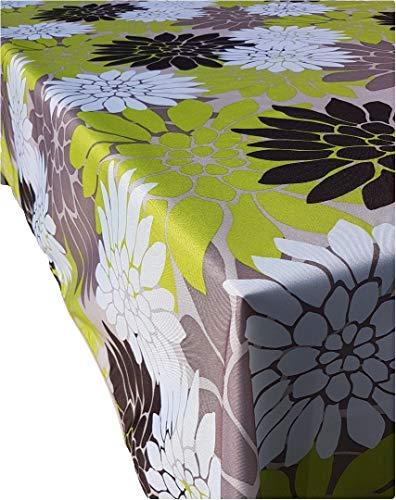 Valia Home Tischdecke Tischtuch Tafeldecke schmutzabweisend wasserabweisend Lotuseffekt pflegeleicht eckig für drinnen und draußen 140 x 280 cm Blumen-Design