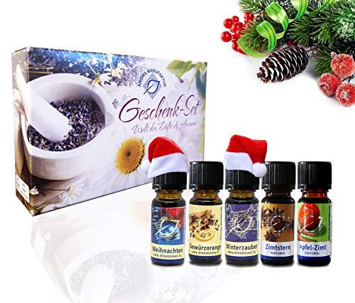 Aroma Manufaktur Duftöle Set für Duftlampen & Diffuser Winter, 5x 10ml Geschenkset, angenehme Raumlufterfrischer mit hochwertigen Duftkompositionen