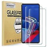 vetro temperato asus zenfone 7/zenfone 7 pro, aokuma [2 pezzi] pellicola protettiva asus zenfone 7/zenfone 7 pro vetro temperato antiurto antigraffio e anti-impronta, durezza 9h, compatibile con cover