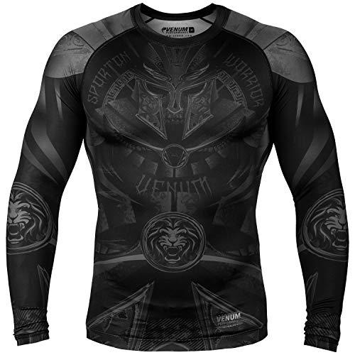 Venum Gladiator 3.0 Rashguard - Long Sleeve Gladiator 3.0 Rashguard - Long Sleeves - Black/Black-M, Black/Black, Medium