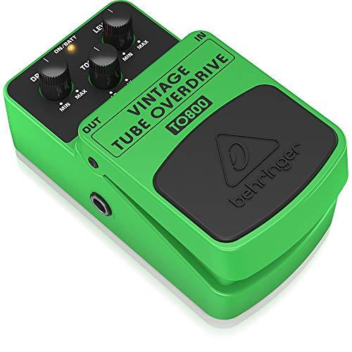 Behringer TO800 equipo de música adicional, equipos de música adicionales, 100-230V, 50/60 Hz, 7 cm, 12.3 cm, 5.4 cm, Verde, VINTAGE TUBE OVERDRIVE TO800, Guitar Pedal
