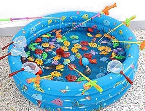 RVTYR Kinder aufblasbare Pools, aufblasbare Badewanne Kinderbecken Spielzeug Pool Aufblasbare Ozean Ball Pool Hallenbad Angeln Pool-Spielzeug Planschbecken Schwimmbad aufblasbar