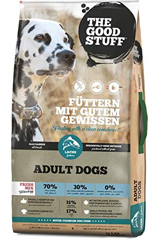 THE GOOD STUFF A BRAND OF MAMACHRIS PETFOOD GMBH | Salmon (Adult) | Hundefutter | Getreidefrei | Single-Protein | Frischfleisch Grösse 12.5 KG