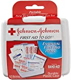 JOHNSON & JOHNSON First Aid to Go Kit 12 Items 1 Each (Pack of 2)