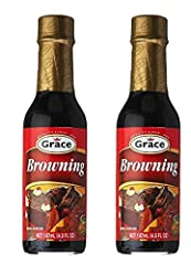 GRACE BROWNING 4.8 FL Oz (Pack of 2) Shake well before using Product of Jamaica Use to enhance the color of your fruit cakes or spiced buns