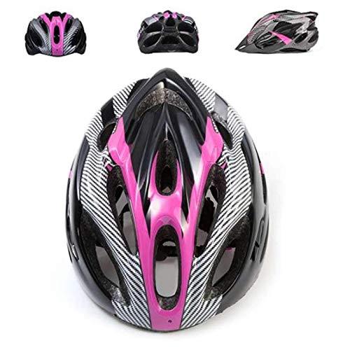 Fahrradhelm, Mountainbike Fahrradhelme Erwachsene Fahrradhelm Verstellbar Radhelm mit Abnehmbarem Visier MTB City Specialized Fahrradhelm EPS-Körper + PC-Schale Fahrradhelm für Männer Frauen (Pink)