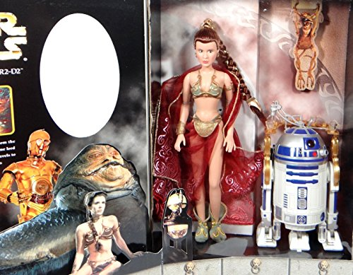 Hasbro Princess Leia in Slave Outfit & R2-D2 with Service Tray as Jabba`s Prisoners 12