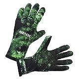 SEAC Anatomic Gloves, Guanti da Sub in Neoprene da 3.5 mm per Pesca Subacquea in Apnea Unisex Adulto, Camo Verde, L