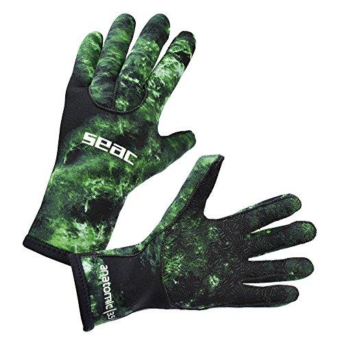 Seac Anatomic Camo Gloves Sub handschoenen, neopreen, 3,5 mm, voor vissen van Subacquea Apnea Unisex volwassenen