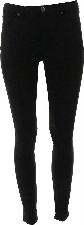 Gili Dual Stretch Colored Denim Ankle Pants Noir Black 24W New A371846